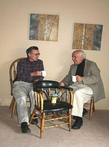 Vernon J. LaBau (left) and Rev. James A. Campbell (right).